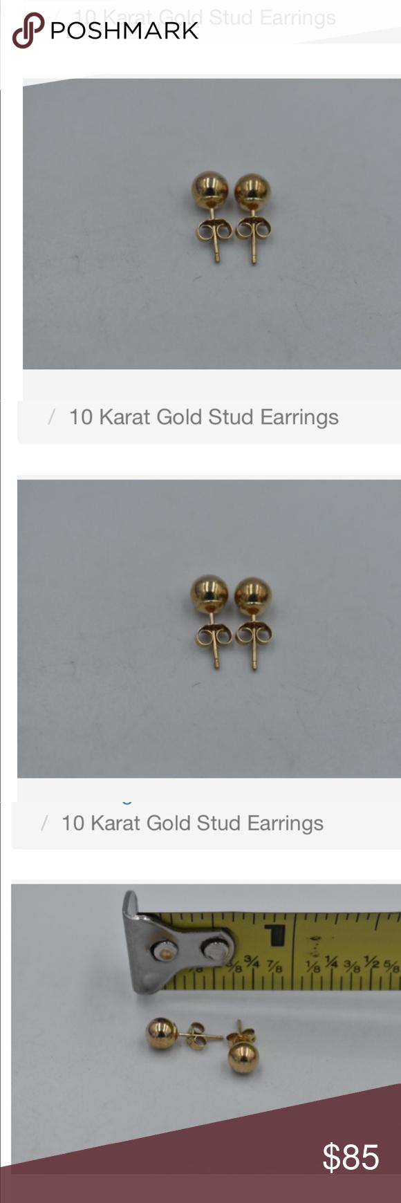 10kt Yellow Gold Earrings Yellow Gold Earring Gold Jewelry Earrings Gold Earrings Studs
