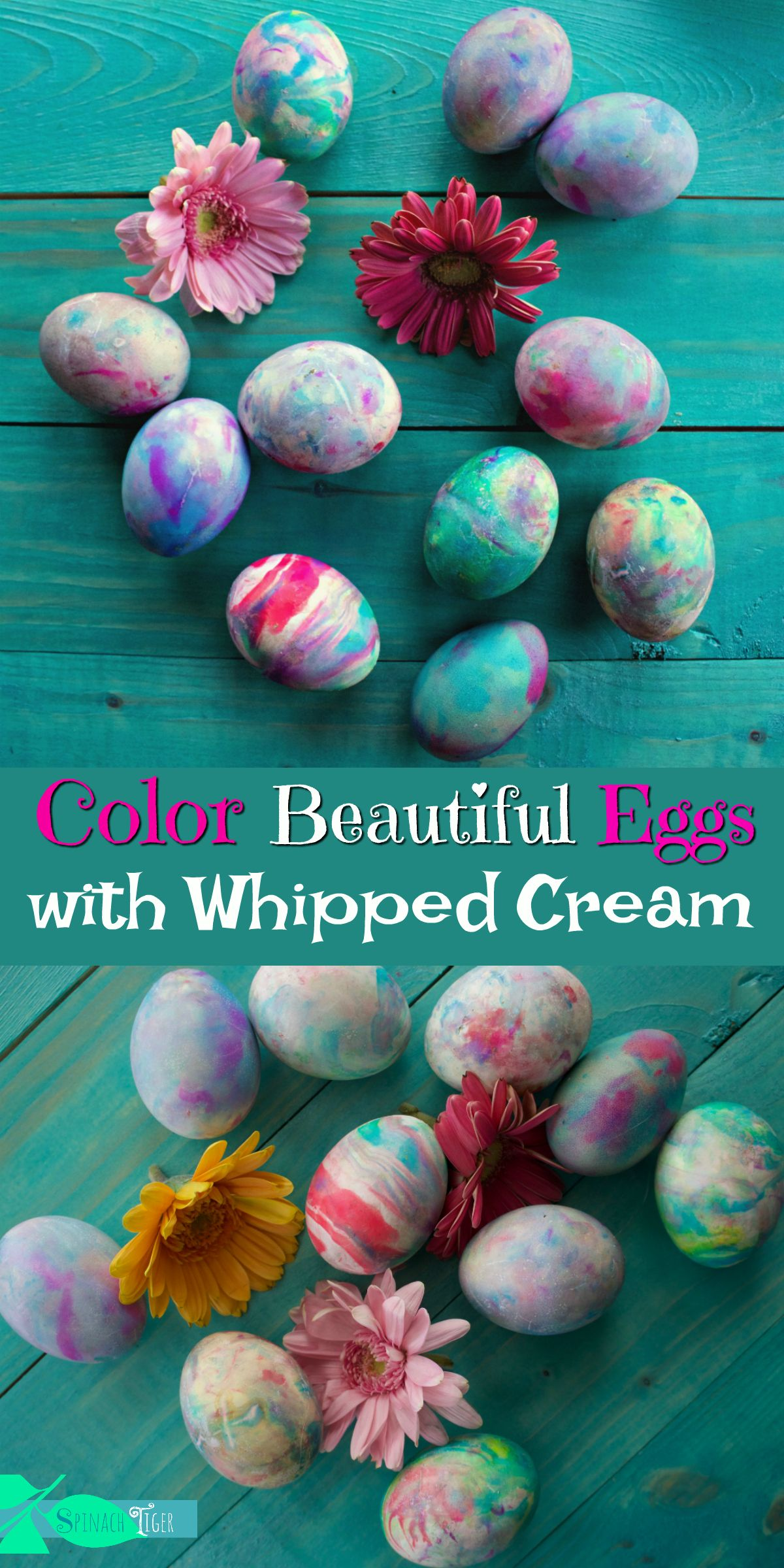 How To Color Eggs For Easter With Whipped Cream Video Recipe