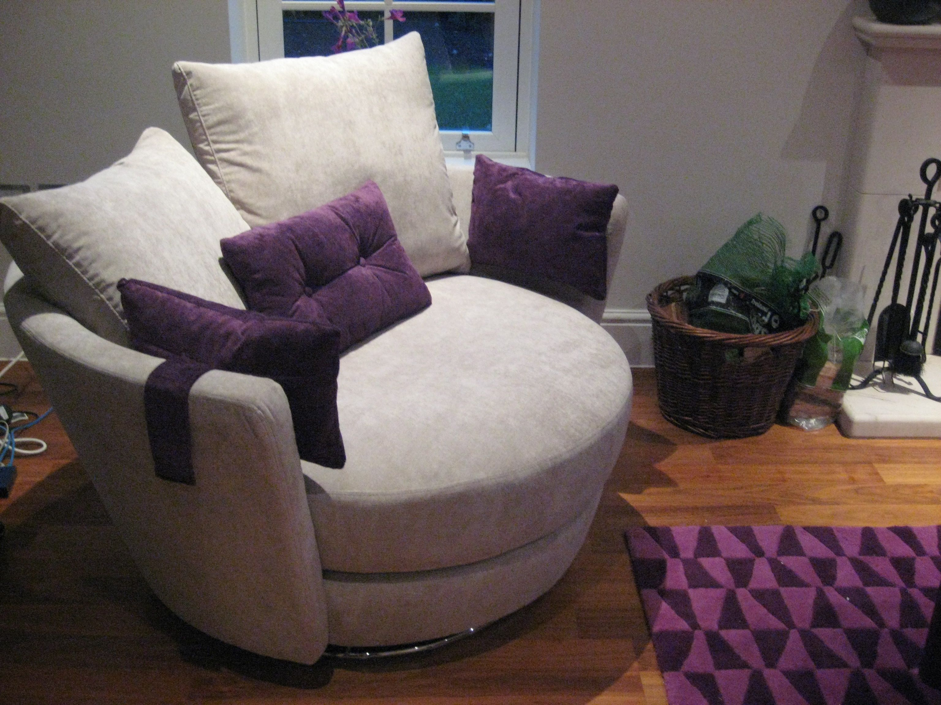 Two person snuggle chair available in any fabric The fact it
