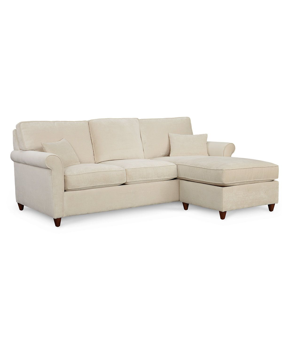 Lidia 82 Fabric 2-Pc. Reversible Chaise Sectional Sofa with Storage ...