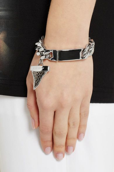 Shark Tooth Bracelet Givenchy Messing Bling Silver