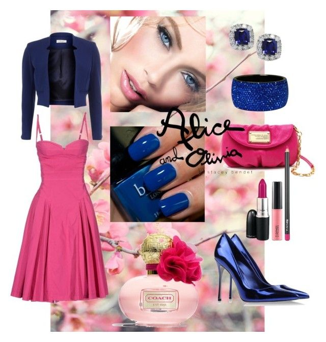 """""""Cobalt Blue & Fuchsia Pink"""" by juliana-mar ❤ liked on Polyvore featuring Butter London, Coach, Sergio Rossi, Marc by Marc Jacobs, Rebecca Moses, Dorothy Perkins, Dsquared2 and Alice + Olivia"""