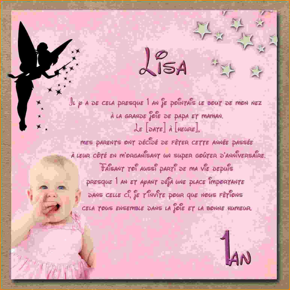 Message D'anniversaire Gratuit Unique Invitation Anniversaire Bébé 1 An Gratuit Creation Carte