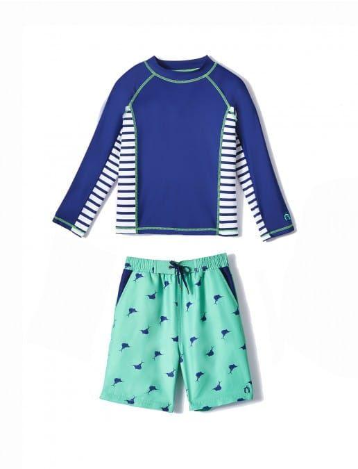 ed77f69345 Big Boys Green Sailfish Rashguard Set, $58.00 Cabana Life 50+ UPV Sun  Protective Clothing