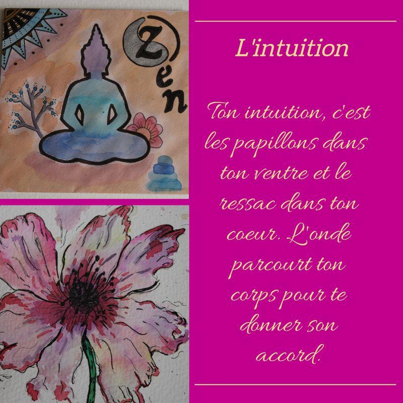 Qu Est Ce Que L Intuition Aquarelle Florale Dessin Et Meditation