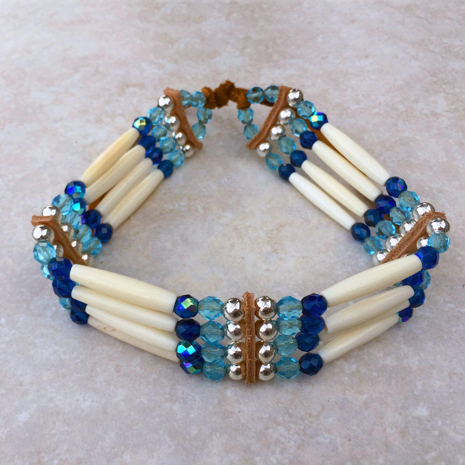 Handmade Buffalo Bone Hairpipe Beads Southwest Earrings