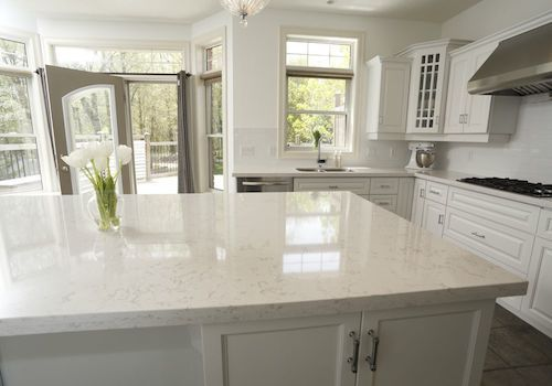 Quartz Cambria Torquay Looks Like White Carrara Marble