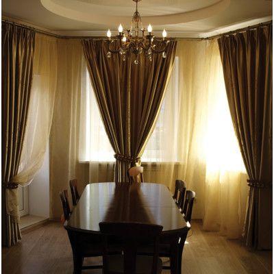 Versailles Home Fashions Decorative Bay Window Single Curtain Rod Set Reviews