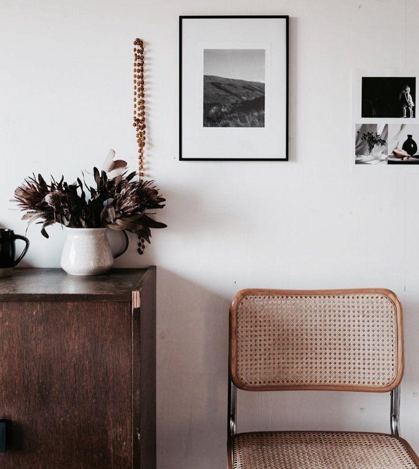 wood, black and white interior