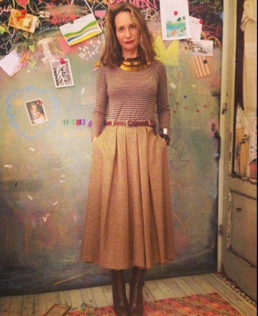 Day 2 - Outfit Uncovered! Atelier Osanna Visconti #titanium collier over Happy Sheep top and #vintage skirt #MFW #MFW2014