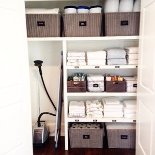 Be inspired to get your linen closet organised and clean with these beautifully organised linen closets