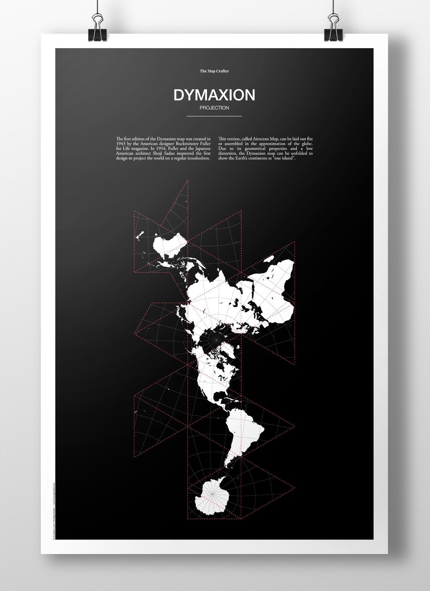 The map crafter beautiful map posters dymaxion projection poster gumiabroncs Images