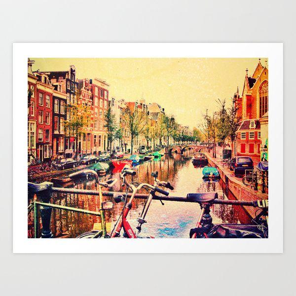 Amsterdam Stroll Art Print by Brianna Clare | Society6