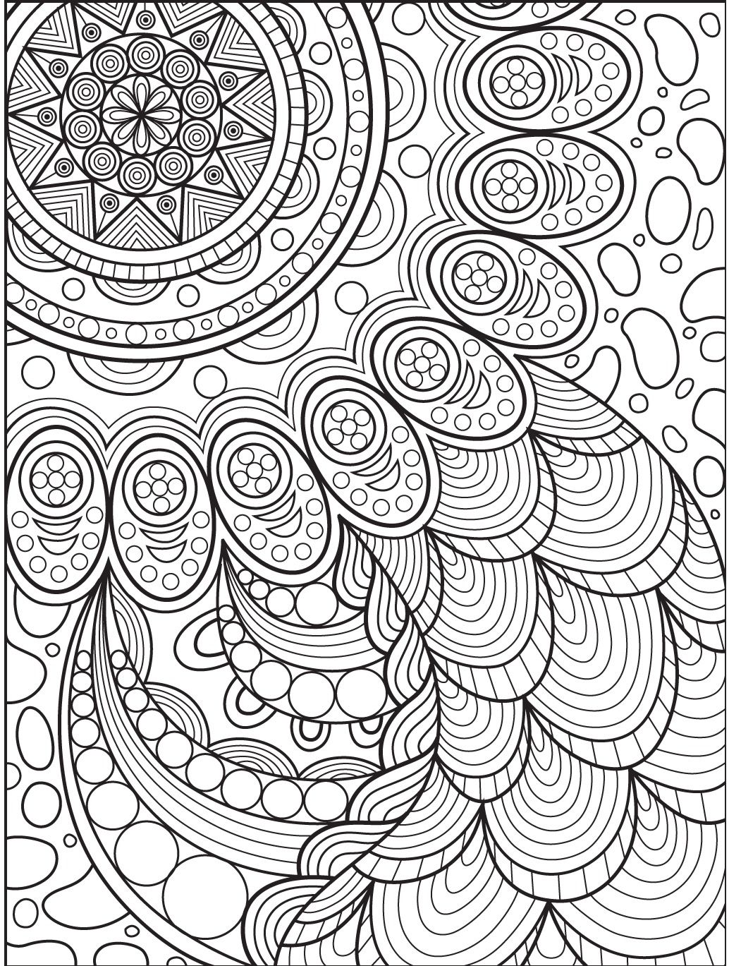 Abstract Coloring Page On Colorish Coloring Book App For Adults By