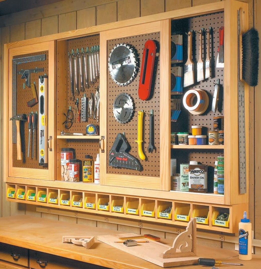 10 Diy Garage Shelves Ideas To Maximize Garage Storage: ShopNotes Pegboard Tool Cabinet Inspiration, Featured On