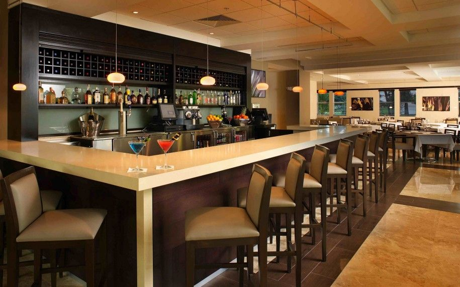 Merveilleux Design Ideas, Inspiring Long Bar Design With Elegant Decoration And Bright  Lighting: Cool Bar