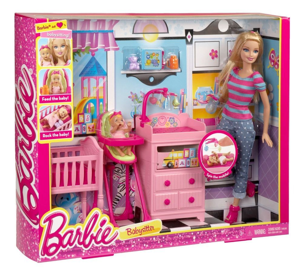 Barbie I Can Be Baby Caregiver Doll Playset | Barbie toys