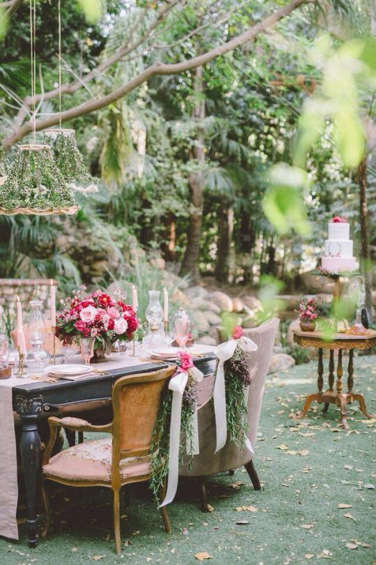 Garden Party Decor | Pink + Green Event | Backyard Party Inspiration ...