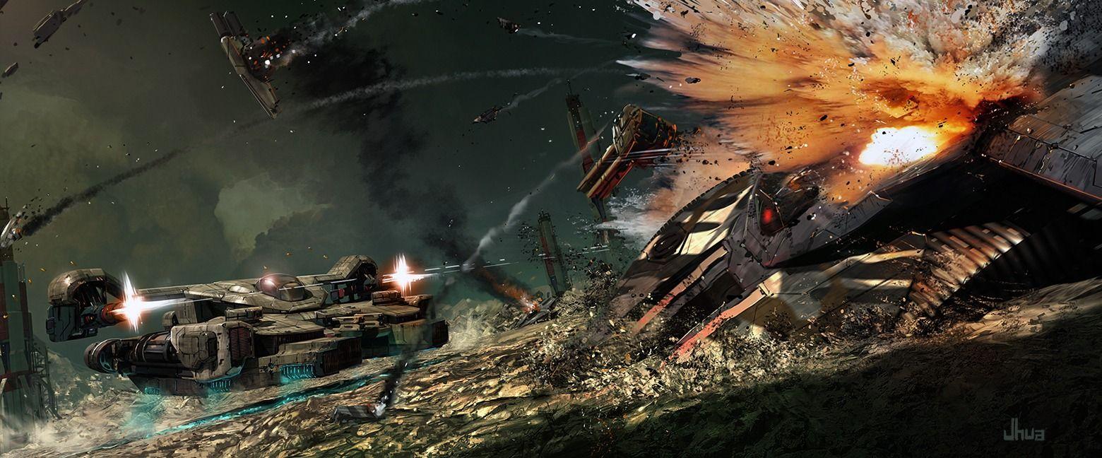 Battle Picture  (2d, sci-fi, spaceships, battle)