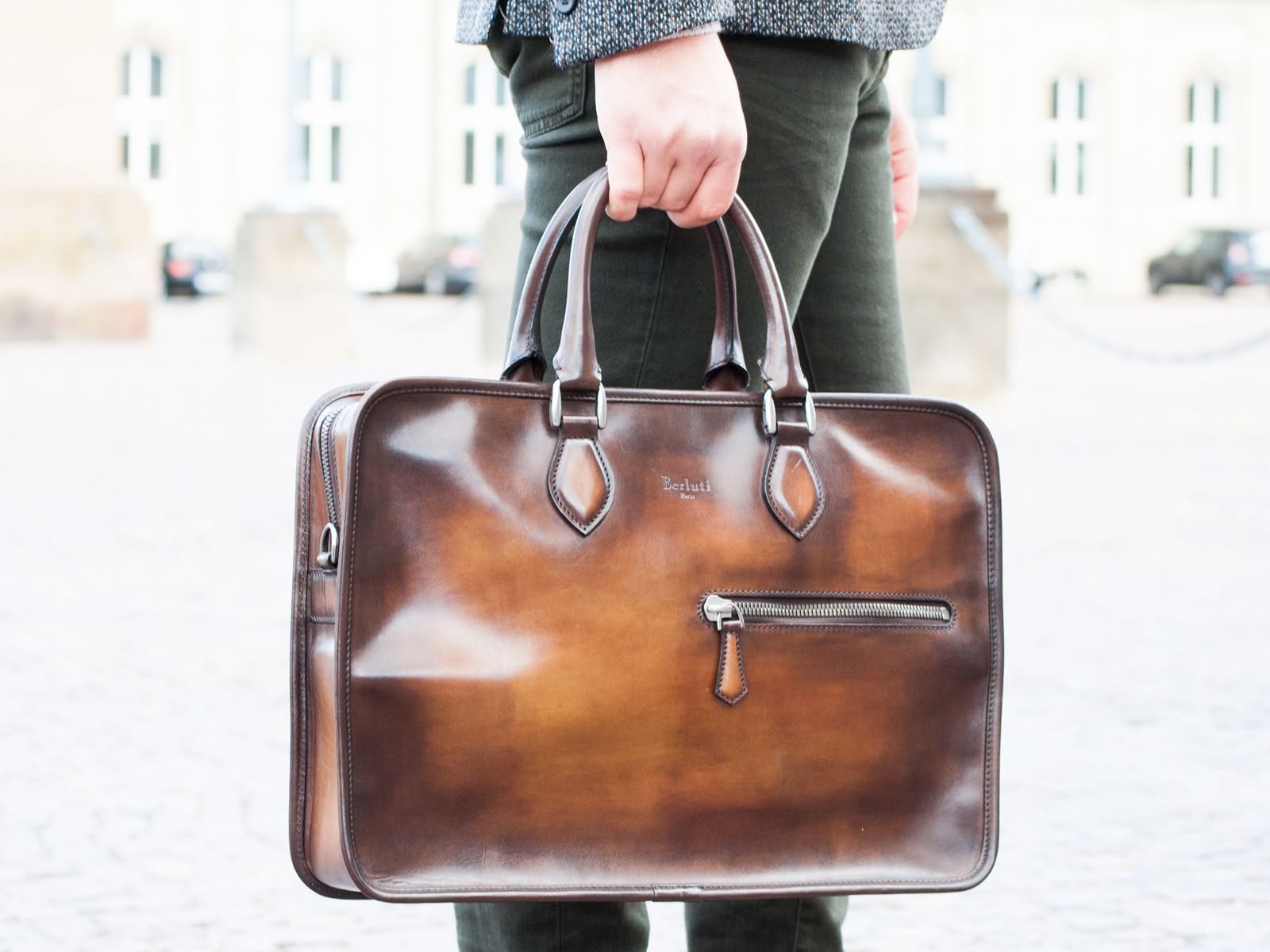 Office Booster Berluti Bag Brown Maisonmargiela Trousers Look Menswear