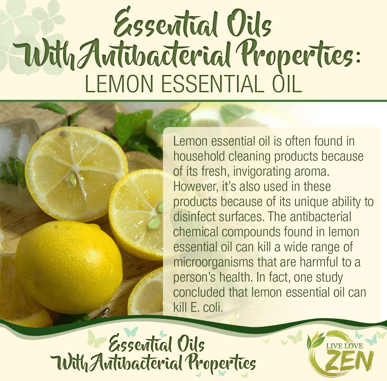how is lemon antibacterial