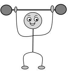 Verb: heben / lift - Verb, Illustration, Zeichnung, heben ...