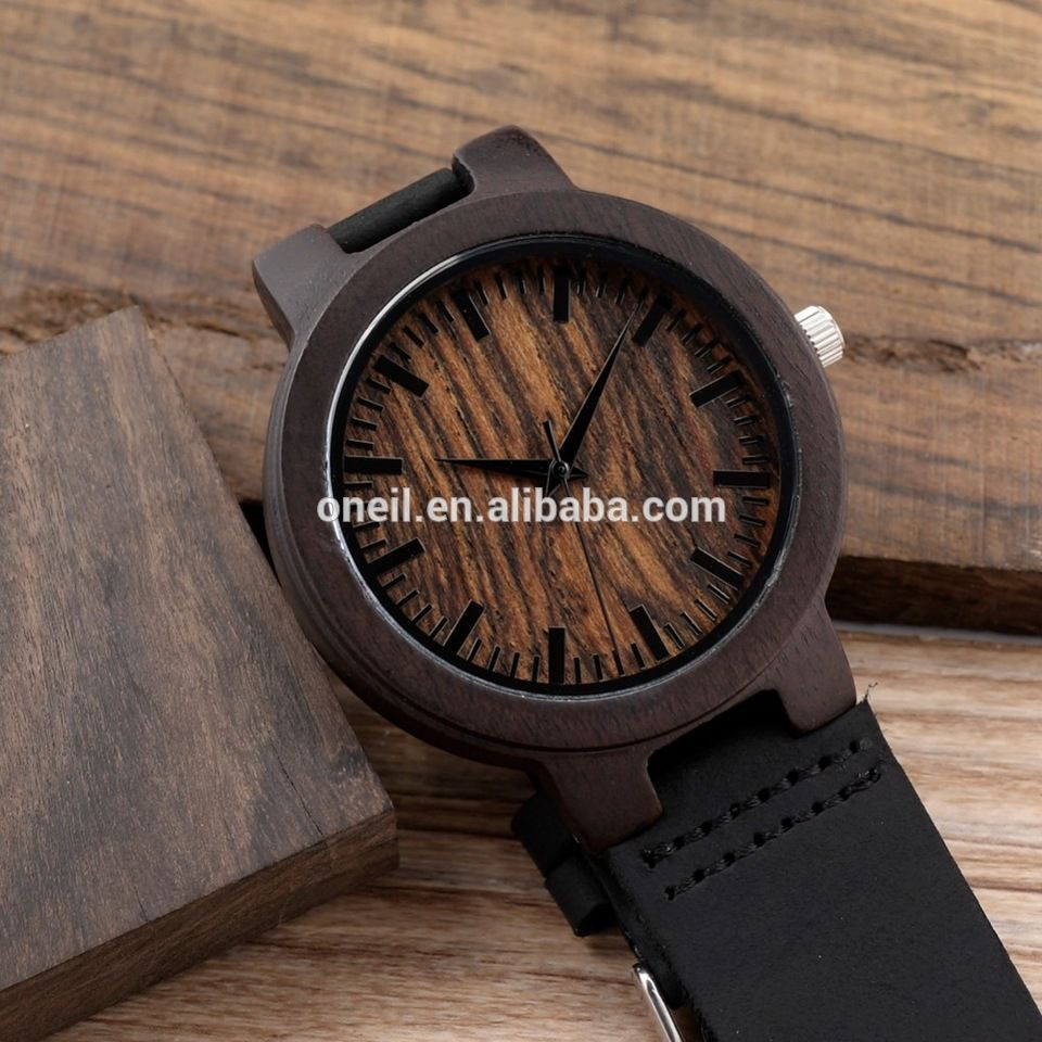 black mens the dial sandalwood original japan top miyota design full uwood movement item watches from in wooden brand quartz