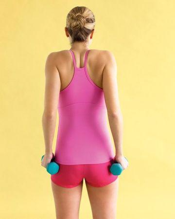 shoulder shrug step 2  best arm toning exercises