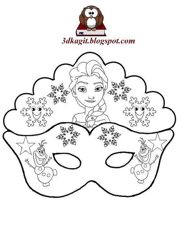 Frozen Elsa Maskeleri 3d Kagit Maket Sanati Maskeler Boyama Sayfalari Boyama Kitaplari