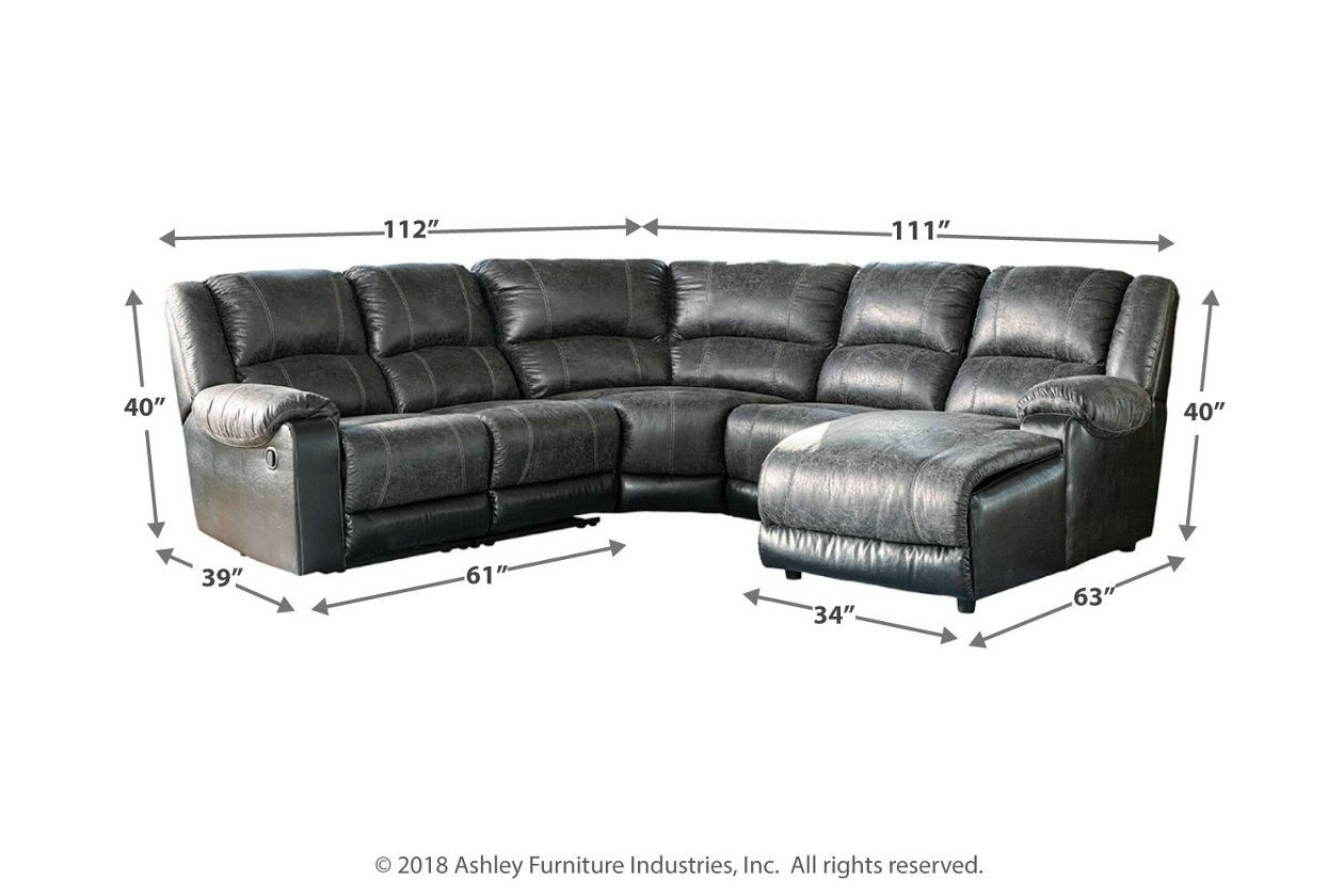 Best Nantahala 5 Piece Reclining Sectional With Chaise 400 x 300