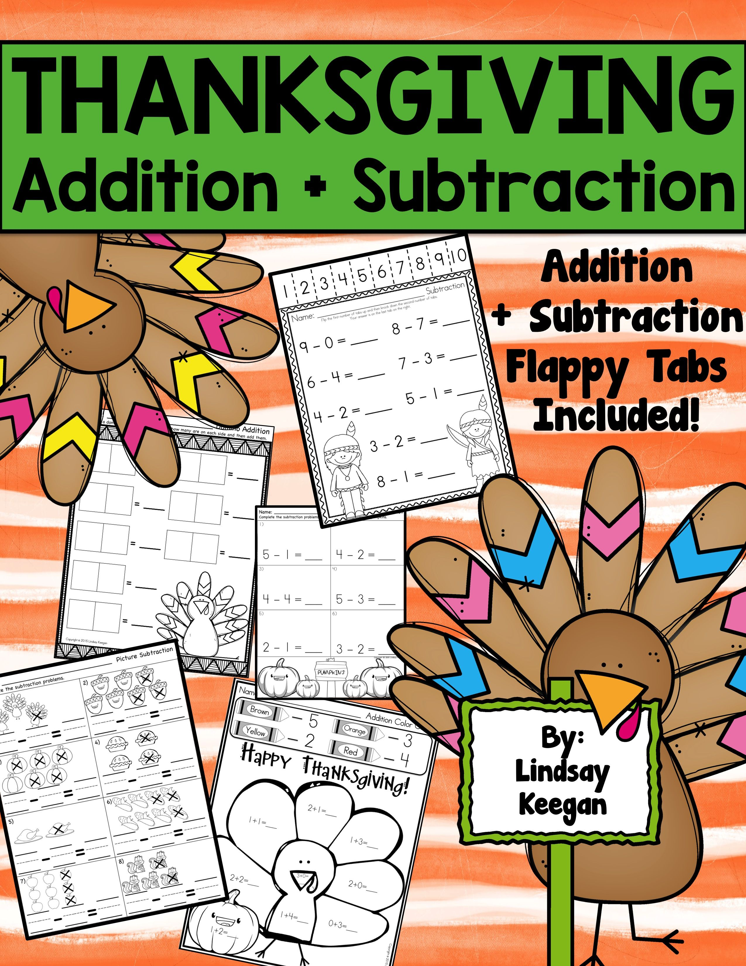 Thanksgiving Math Activities For Addition And Subtraction