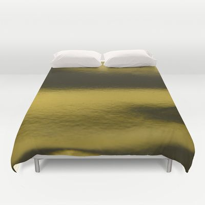 Golden metal Duvet Cover by VanessaGF - $99.00 #golden #gold #metal #metallic #duvetcover #duvet