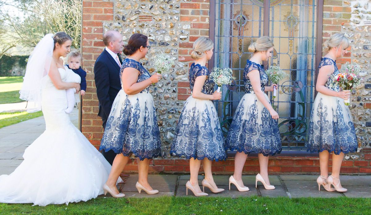 Meadow flowers navy u peach wedding in sussex victoria harland