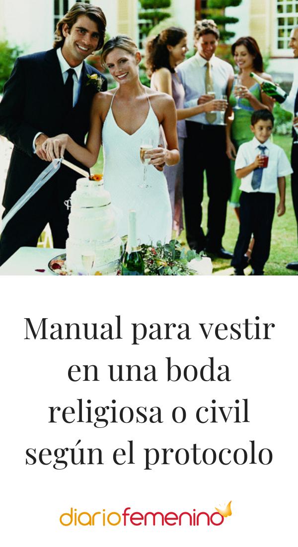 0e67d0c54 Manual para vestir en una boda religiosa o civil según el protocolo ...
