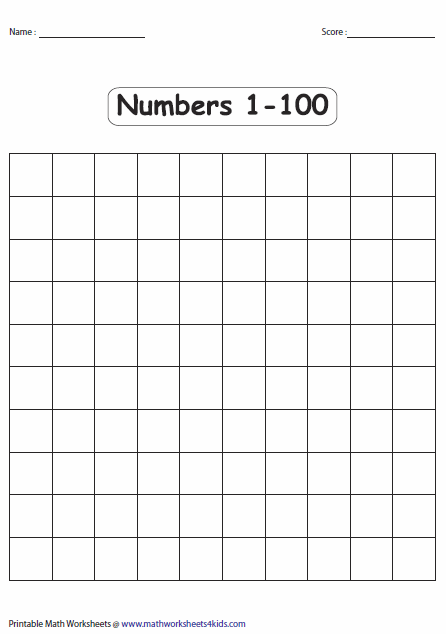 Blank # Charts and other # pages | preschool | Number chart ...