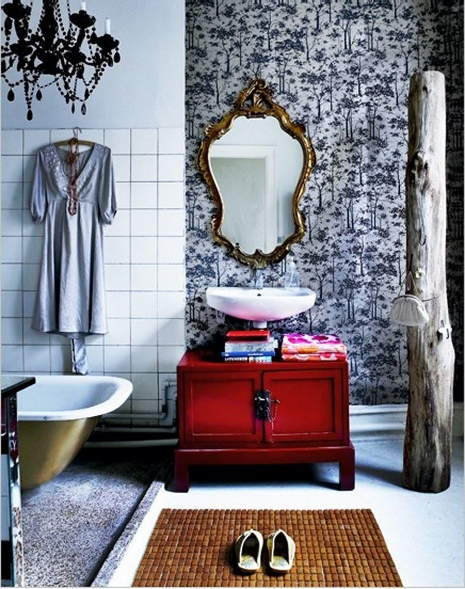 Awesome Bohemian Bathroom Design Inspirations The White - Eclectic bathroom designs