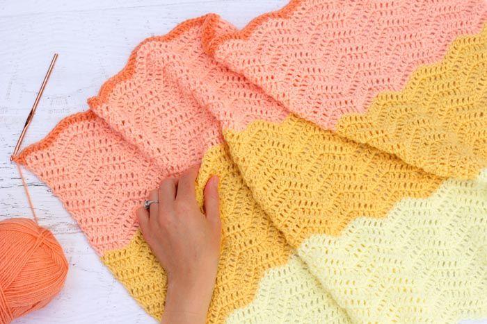 Modern Gender Neutral Crochet Baby Blanket - Free Pattern ...