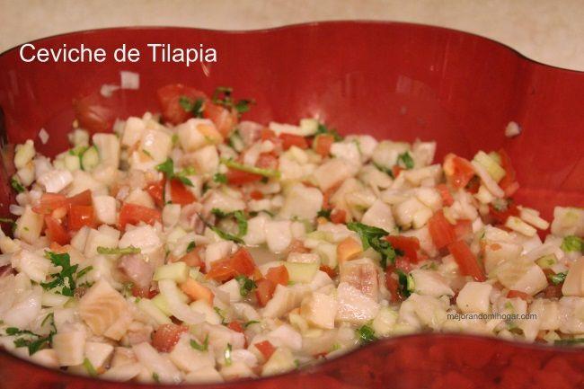 Receta Ceviche Tilapia o Cualquier Pescado, fácil de preparar, rica y refrescante, ideal como platillo de Cuaresma, lo puedes servir también como botana.