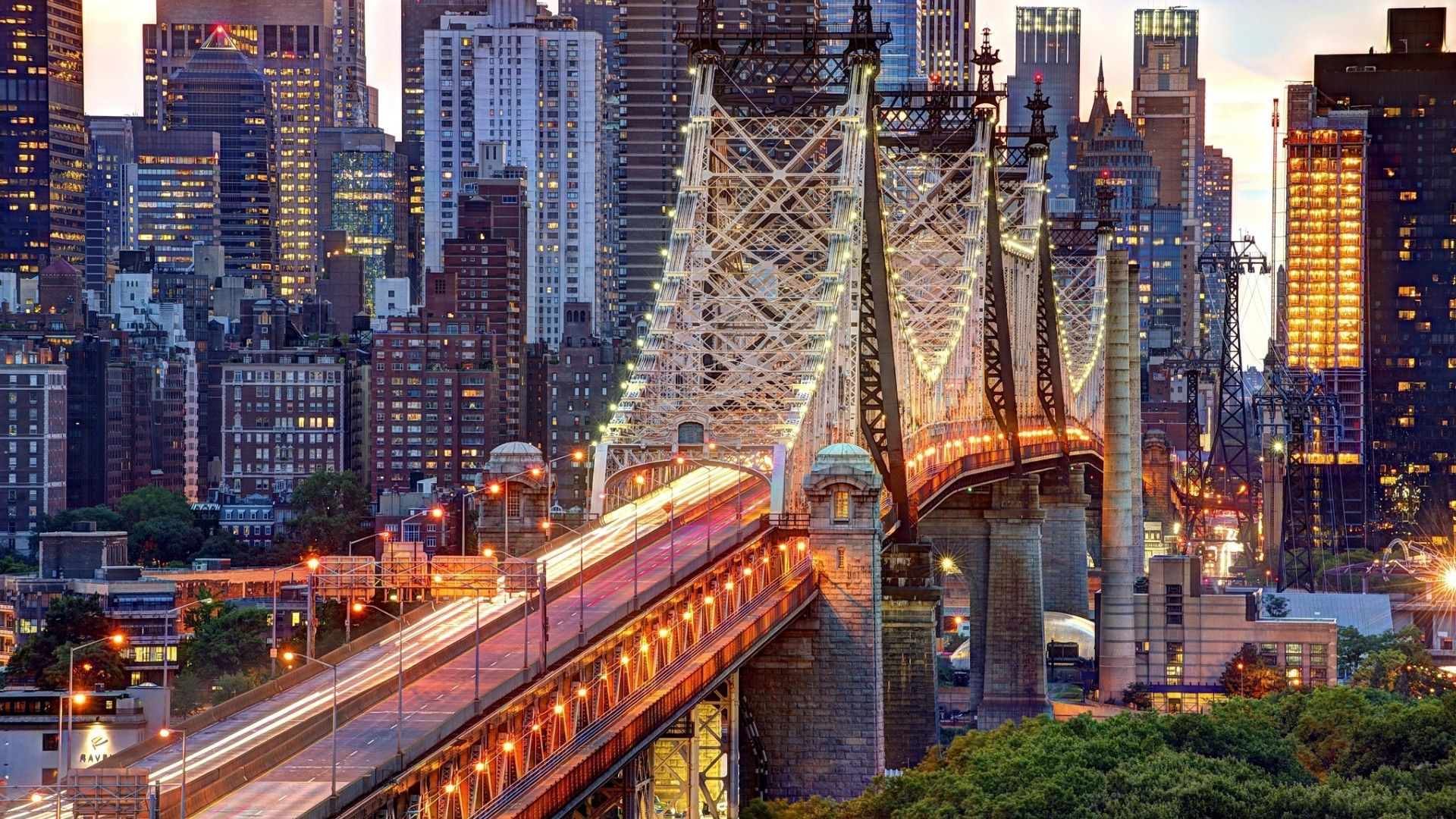 Evening View New York Beautiful Places Hd Wallpaper Widescreen