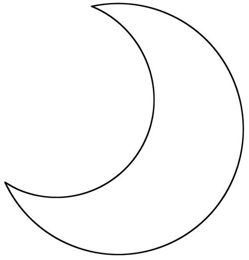 Molde para hacer almohadas en forma de luna 2 - Formas goma eva ...