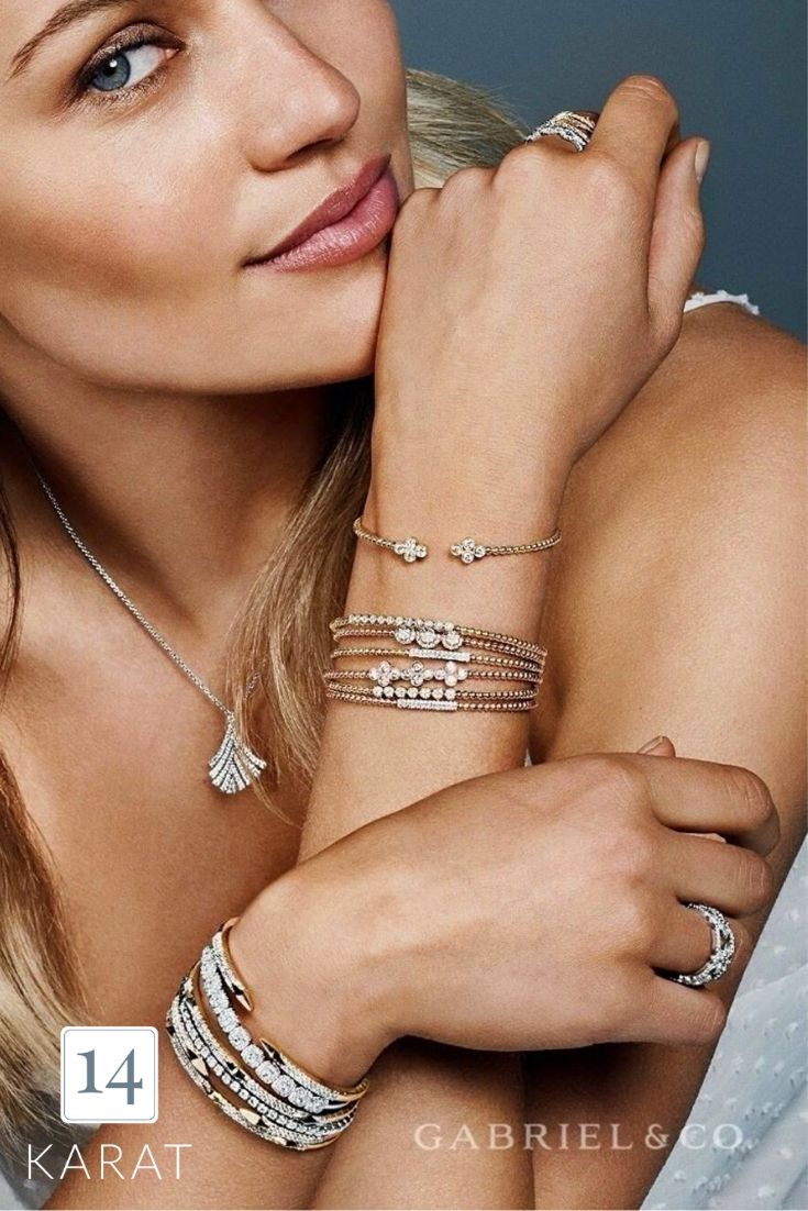 A little sparkle never hurt anyone. 😍 Via:Gabriel & Co  #FineJewels #FineJewelry #JewelryOTD