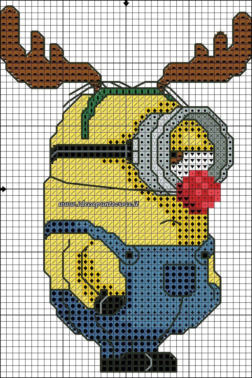 Pin von Rita Hughes auf minion stuff | Pinterest | Kreuzstich ...
