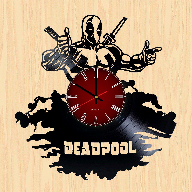 Deadpool Handmade Vinyl Record Wall Clock Fan Gift