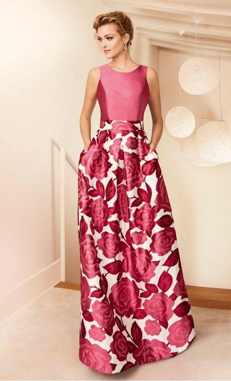 Vestido NATI JIMENEZ Largo Estampado | Gowns, Moda and Formal