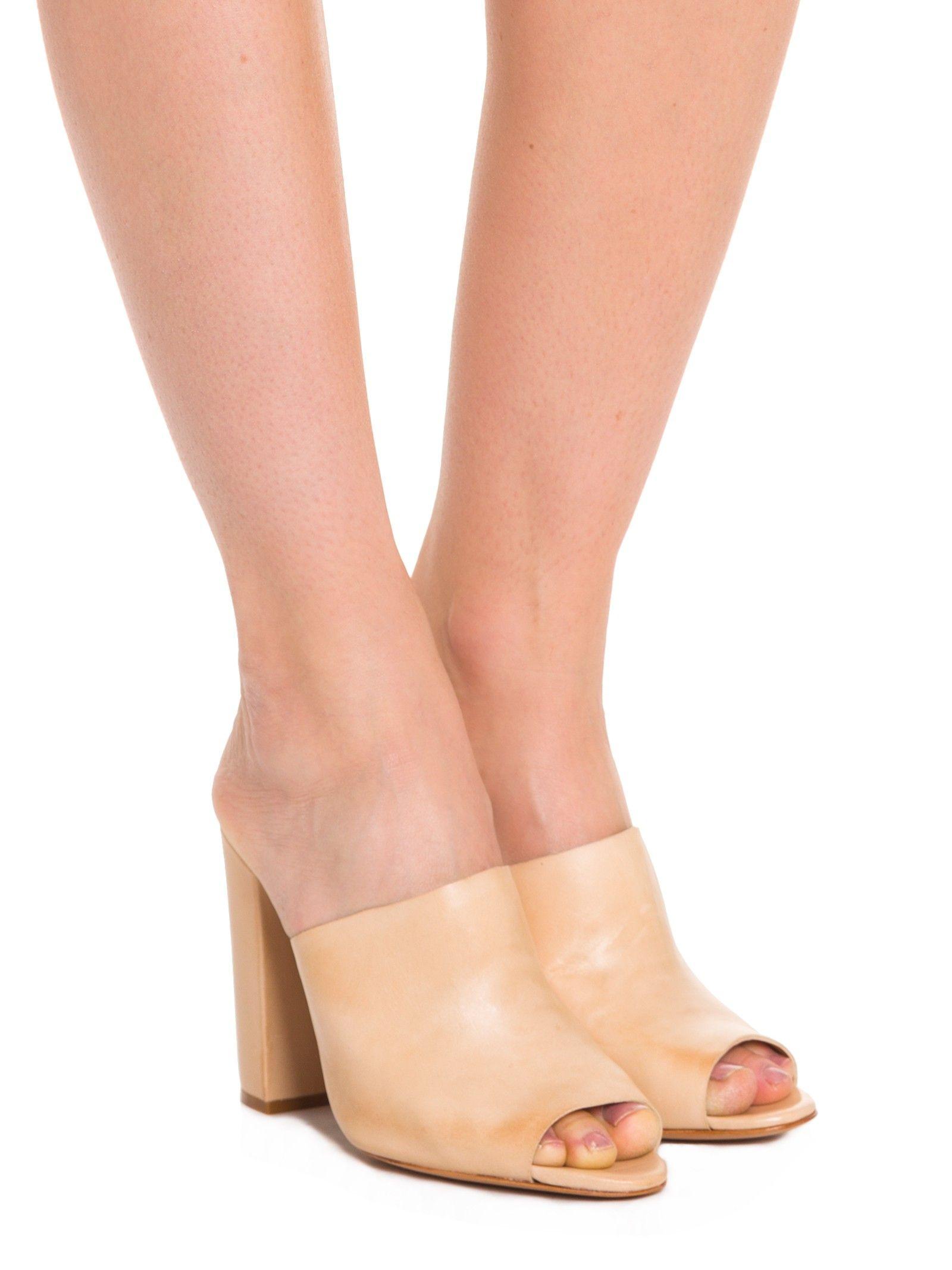 Sandália Salto Alto Atanado Soft - Schutz - Nude - Shop2gether