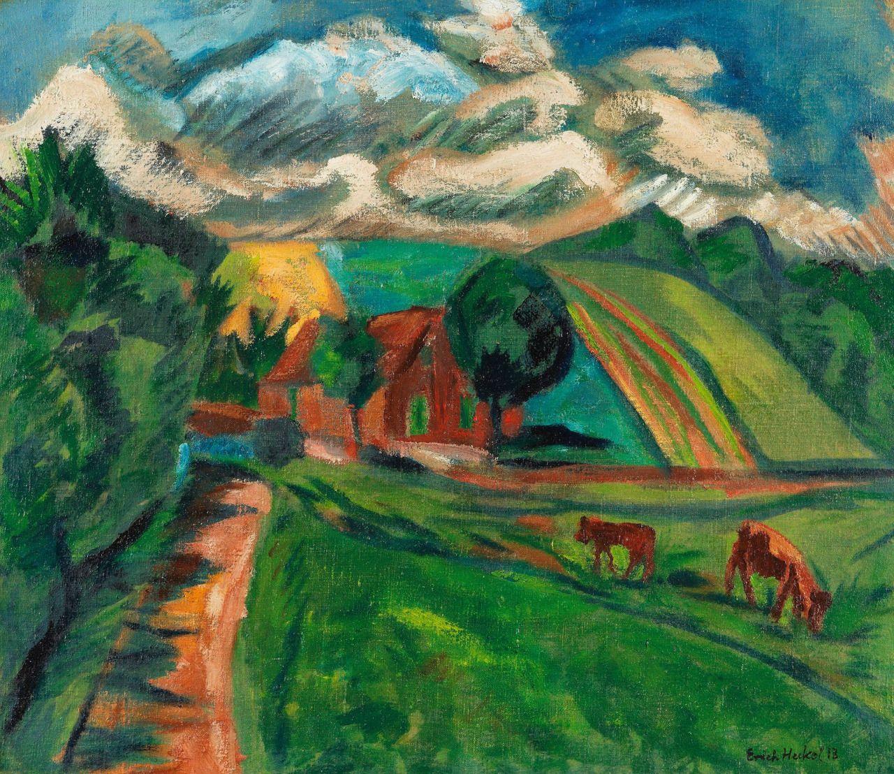 Erich Heckel (1883-1970) Hügellandschaft, 1913