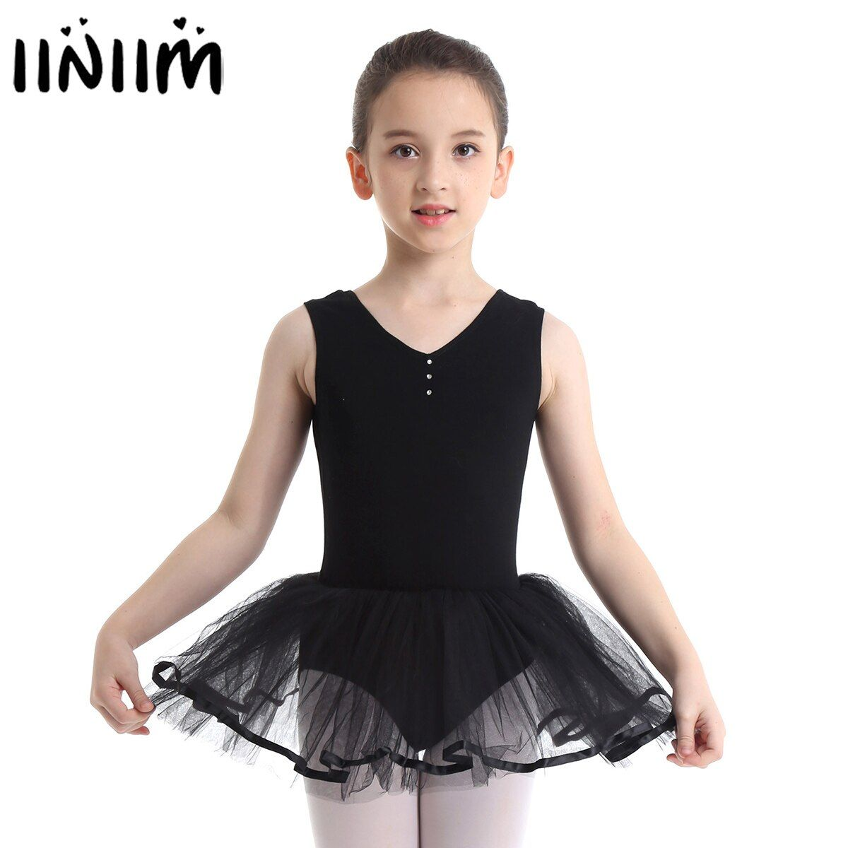 Tutu Skirt Kid Girls Lyrical Dance Dress Costumes Leotard Ballet Dancing Outfit