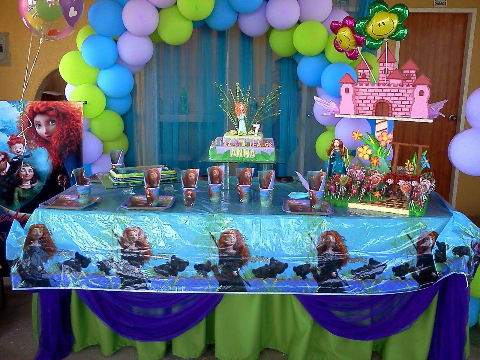 Decoraci n de valiente para cumplea os merida and birthdays - Decoracion de mesa de cumpleanos infantil ...