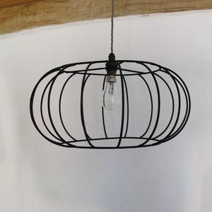 Pumpkin lampshade frame wire lampshade minimalist and contemporary pumpkin lampshade frame greentooth Gallery