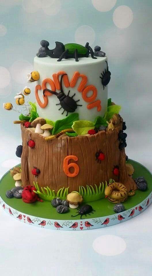 Cool Bug Cake Crawly Critters Bug Birthday Cakes Birthday Cake Funny Birthday Cards Online Overcheapnameinfo